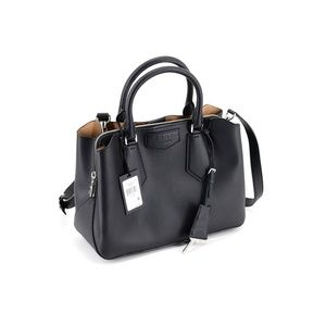 Dkny Sullivan Satchel Black/Silver Key Bag